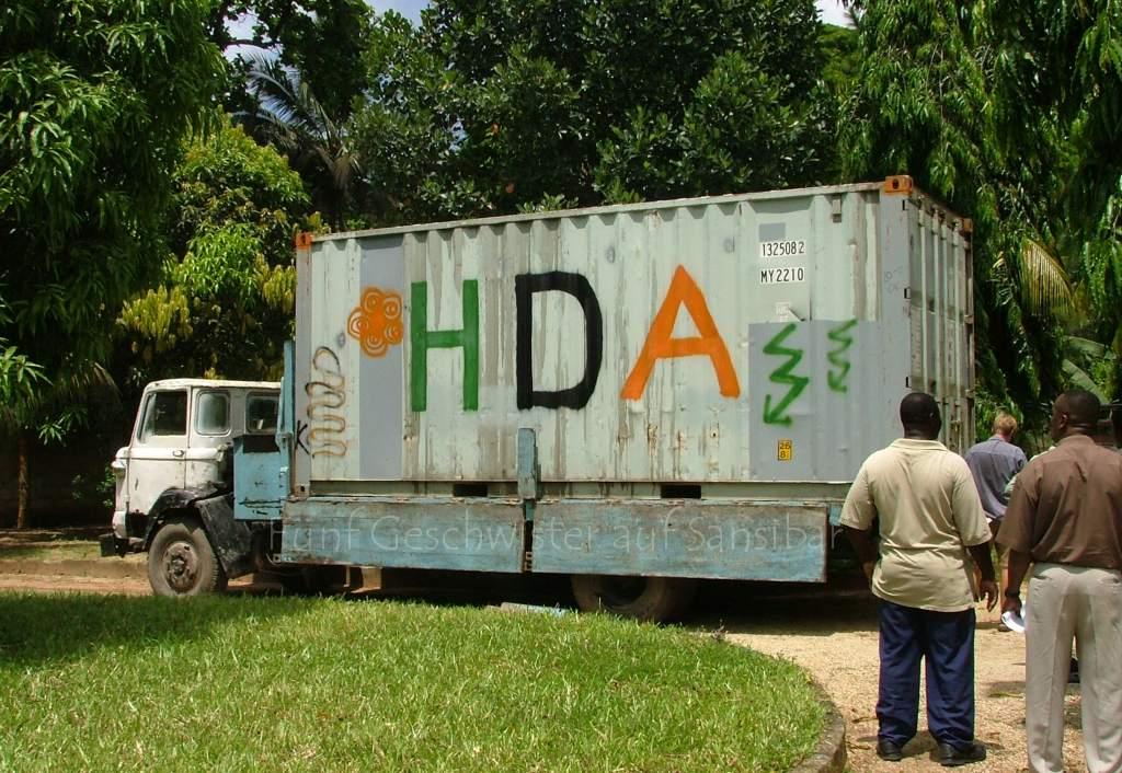 Umzug ankunft container 5